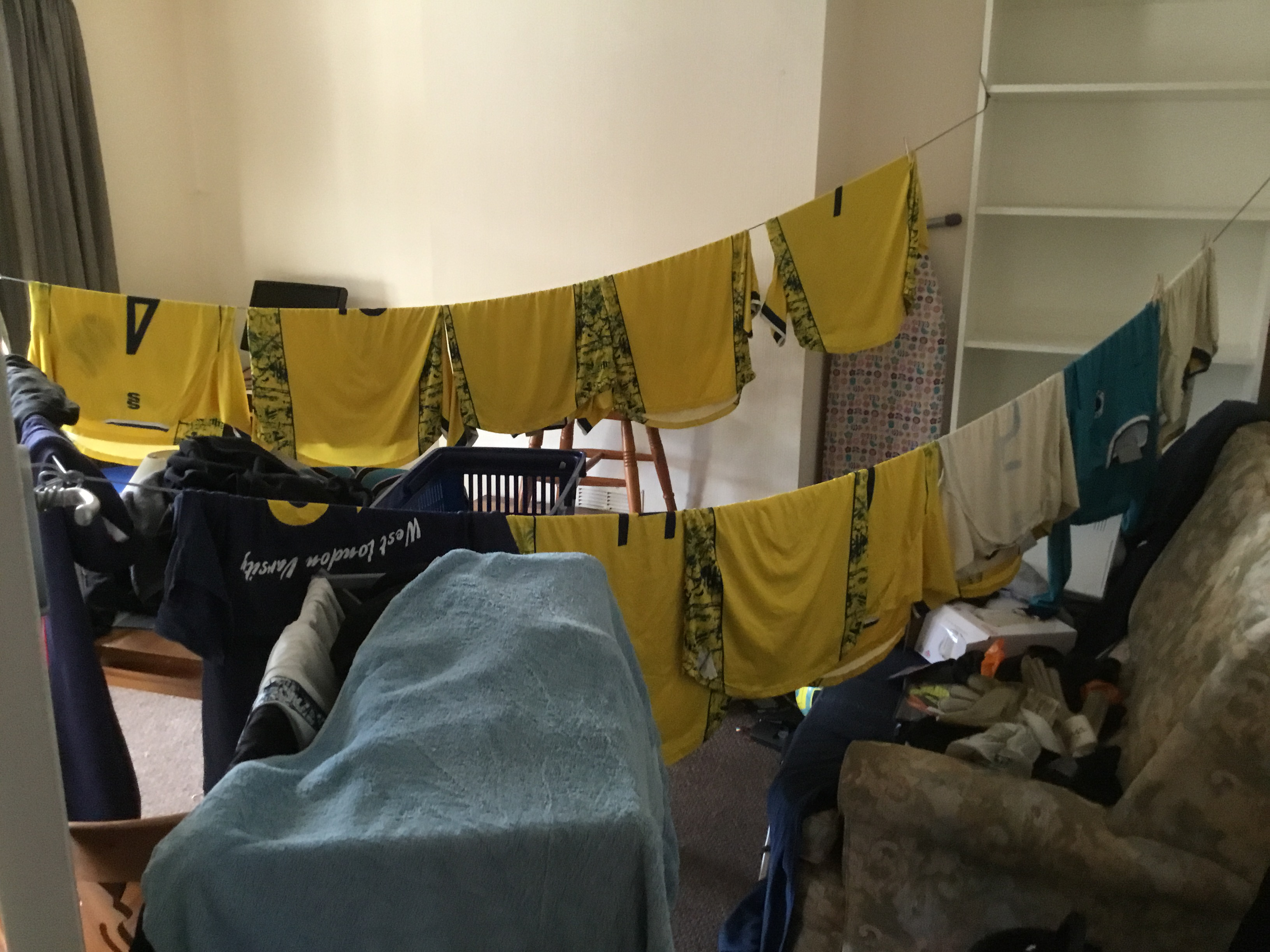 Clothes drying inside a flat causes condensation